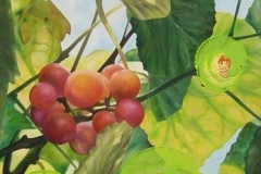 Trauben, Grapes, Oil on Canvas * 140 x 70 cm | 55 x 27,5 inch