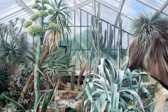 Princess of Wales Conservatory, Kew Gardens, London * Oil on Canvas,   190 x 210 cm | 75 x 83 inch