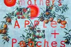 mother's apples and peaches, Oil on Canvas * 100 x 120 cm | 40 x 47 inch